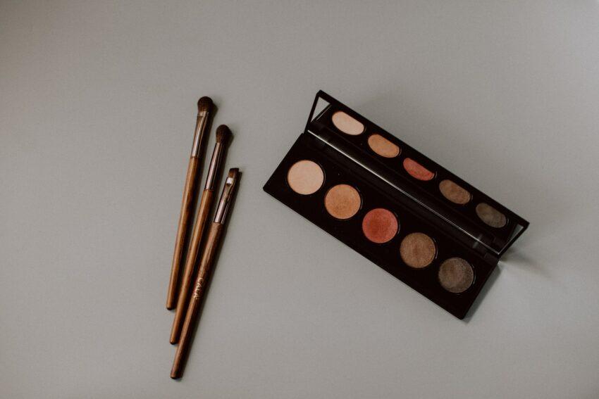 brown and black makeup palette